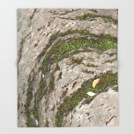 Mossy Stone Curves Throw Blanket