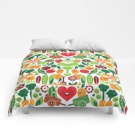 Vegetables tile pattern Comforters