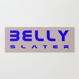 Belly Slater logo Canvas Print