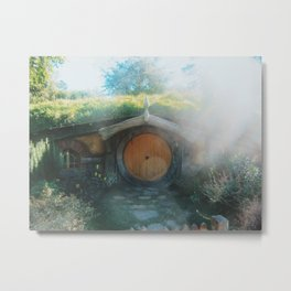 In a hole in the ground.. Metal Print