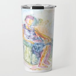 Woman in an armchair 1 watercolor Travel Mug