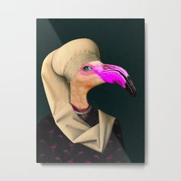 Portrait of a Flamingo Metal Print