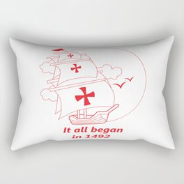 American continent - It all began in 1492 - Happy Columbus Day Rectangular Pillow