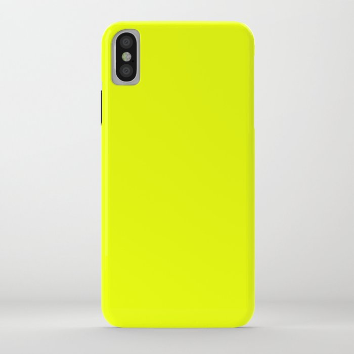 neon yellow + bug out bag design iphone case