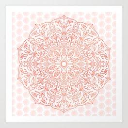 Coral Nature Mandala Art Print