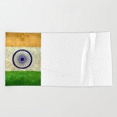 National flag of India - Vintage version Beach Towel