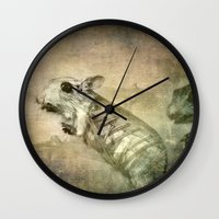 bond Wall Clocks featuring Bond by Adelina Campean