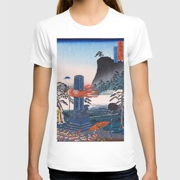 12,000pixel-500dpi - Kawanabe Kyosai - Historic Spots At Urashima, Kanagawa, Tokaido Famous Sights T-shirt
