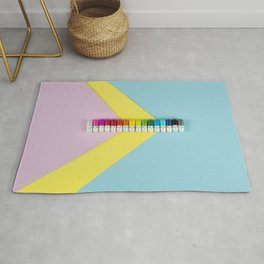 Happy little rainbow pills Rug