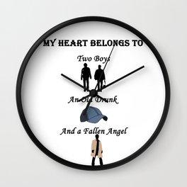 My Heart Belongs to Supernatural Wall Clock