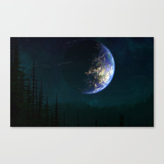 Out of this world #forest Canvas Print