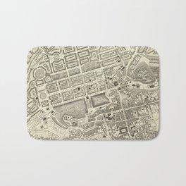Vintage Map of Edinburgh Scotland (1844) Bath Mat