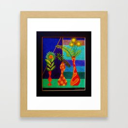 More Groovy Vases by Anthony Davais Framed Art Print