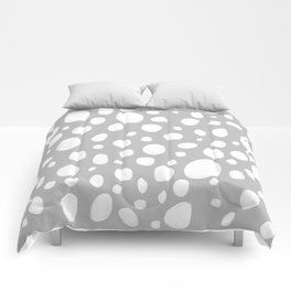 Dots grey illustrated pattern Comforters