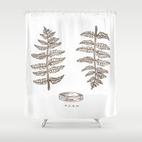 fern Shower Curtains featuring fern by a crown of wood