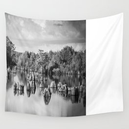 Dead Lakes Florida Black and White Wall Tapestry