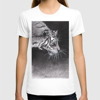 abyss T-shirts featuring Tiger Abyss by Terese W. Antonsen