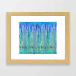 Shadows and Reflections in Shades of Blue and Green Framed Art Print