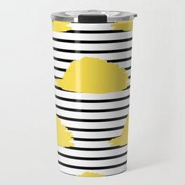 Yellow & Black Stripes Digital Design Travel Mug