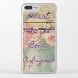 heart is the boss Clear iPhone Case