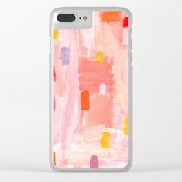 Put Sorrows In A Jar - abstract modern art minimal painting nursery Clear iPhone Case