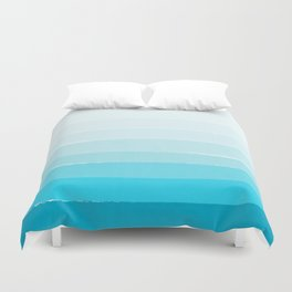 Isla - Ombre Brushstroke - Blue Turquoise, Bright, Summer, Tropical, Beach Ocean Duvet Cover