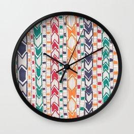 Marching Diamonds Wall Clock