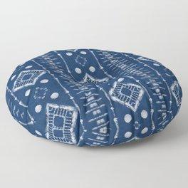 "Shibori Style ""Ladder"" Floor Pillow"