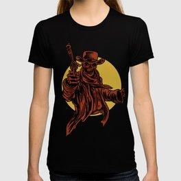 Cowboy Skull Head Face Bones  Skeleton Cowboy Gift T-shirt