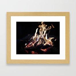 Fire Framed Art Print