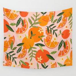 Orange Blooms – Blush Wall Tapestry