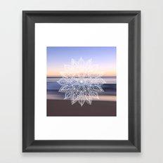Leaf mandala - beachside Framed Art Print