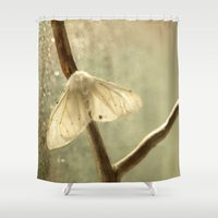 moth Shower Curtains featuring moth by Nature In Art...