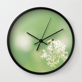 Bee on Flower Wall Clock