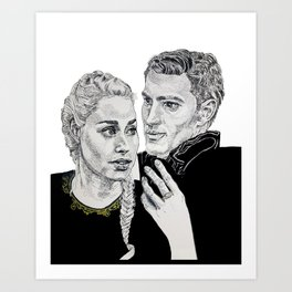 Celaena and Chaol Art Print