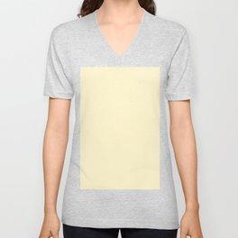 color for Clear Sky Gold (#FFF5CC-lemon chiffon) Unisex V-Neck