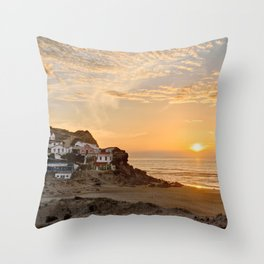 Sunset on the Costa Vicentina, Portugal Throw Pillow