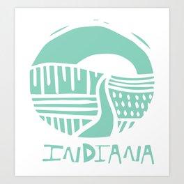 Indiana The Crossroads of America Mint  Art Print