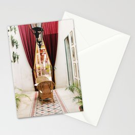 Colonial Style Tea Room in Merida, Mexico Stationery Cards
