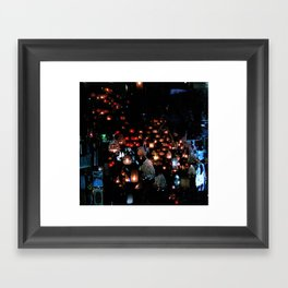 Lanterns in the Souk, Istanbul Framed Art Print