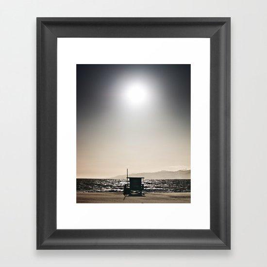 Venice Beach California Guard Tower Framed Art Print