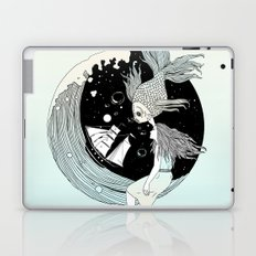 Moonwave (Or the Muse & the Seemingly Eternal Search for Existence in the Sea of Darkness & Dreams) Laptop & iPad Skin