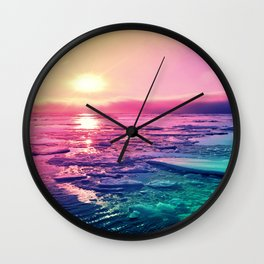 Pastel Sunset Waters Wall Clock