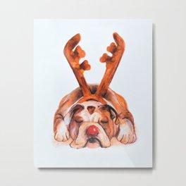 Reindeer Boxer Metal Print