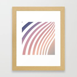 Soft pastel abstract lines Framed Art Print