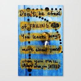 Failing. Canvas Print
