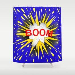 Boom Cartoon Bubble Shower Curtain