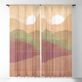 Autumn Landscape 3 Sheer Curtain