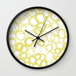 Watercolor Circle Ochre Wall Clock