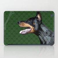 doberman iPad Cases featuring Doberman by Miguel de Elena